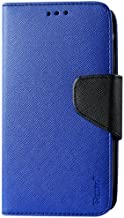 Reiko 3-In-1 Wallet Case with Interior Leather-Like Material and Polymer Cover for BLU Studio 5.0 D530 - Retail Packaging - Navy