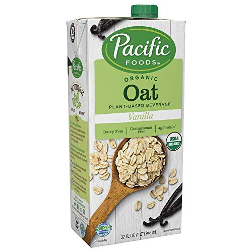 Pacific Foods Oat Milk, Vanilla, 32 oz (12-pack)| Shelf Stable, Plant-Based, Vegan, Non GMO