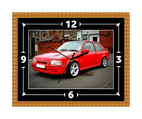 Ford Escort RS Turbo Clock Gift Present Christmas Birthday (Can Be Personalised)
