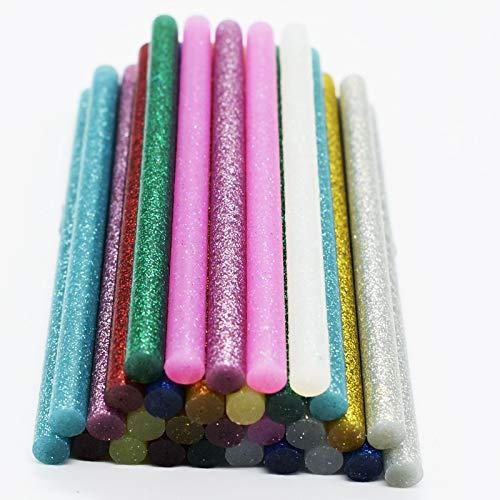W-L Pegamento Termofusible 50pcs colorido de pegamento caliente Sticks 7/11 mm *...