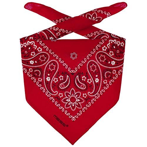 Lipodo Bandana Tuch Damen/Herren/Kinder - Kopftuch in rot aus 100% Baumwolle - Multifunktionstuch in Einheitsgröße (55 x 55 cm) - vielfältige Tragemöglichkeiten