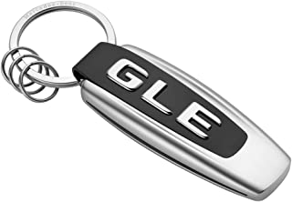 Mercedes Benz Schlüsselanhänger Typo GLE Edelstahl schwarz/silber