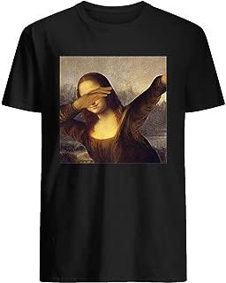 Mona lisa dab meme Men's Short Sleeve Graphic Fashion T-Shirt