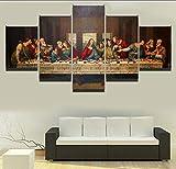 Cuadro de la lona Sala de estar Arte de la pared Marco 5 piezas...