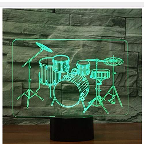 3D Led Nachtlicht Schlagzeug Set Mit 7 Farben Licht Für Heimtextilien Lampe Erstaunliche Visualisierung Optische Täuschung