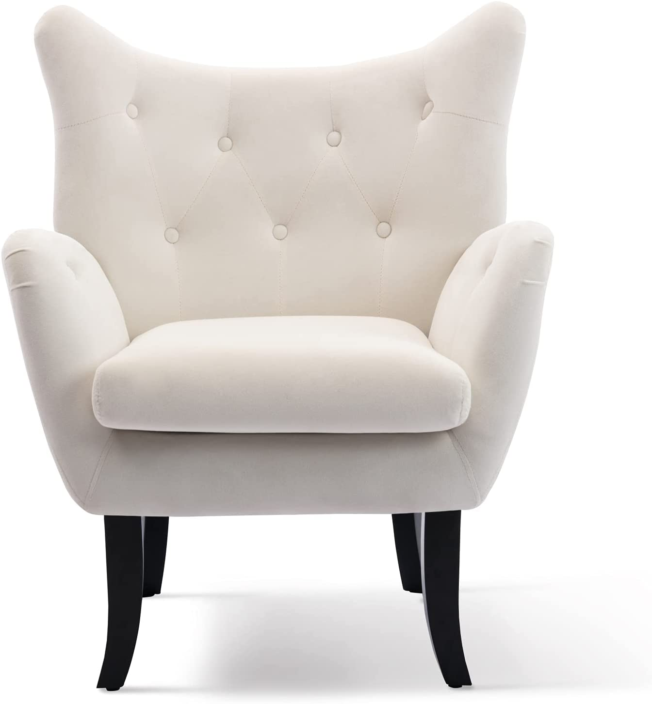 Accent Chair Velvet Popular product Wingback Vanity Tufted Modern 5% OFF Button A