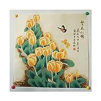 Lingxueの手は元のバージョンを描き、ゴールドペンの絵のような花、有名なコレクションの仕事、1つだけ