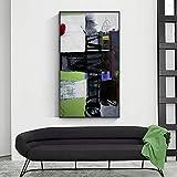 Combinación de colores abstractos Pinturas Impresiones Lienzo Imagen de arte de pared Póster no tejido Arte de giclée Sala de estar Decoración para el hogar 27.5 'x55.1' (70x140cm) Sin marco