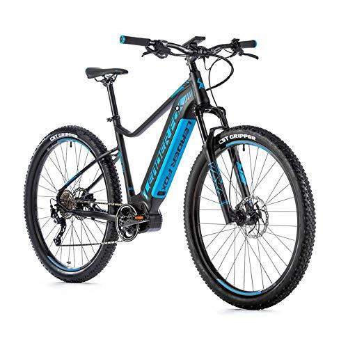 Bicicletta elettrica VAE MTB Leader Fox 29 awalon 2020 da uomo, motore centrale Bafang M420 36 V 17, nero/blu