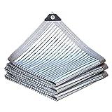 Awnings Malla Sombreo Malla bloqueadora,Toldo Vela de Sombra, Sombra de lámina de Aluminio, 85% Malla Sombreadora, paño de Sombra con Ojales, Red de Sombreado, para Plantas, Invernadero, Piscina, ja
