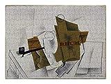 TLMYDD Puzzles de rompecabezas grandes para adultos-Pablo Picasso-tubería, vidrio, botella de pintura de ópes de ron rompecabezas de rompecabezas de rompecabezas ilustraciones-pared estudio decoración