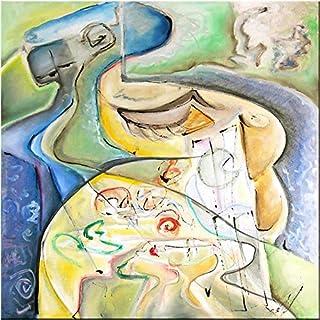 """Pintura Original Lienzo al Óleo Arte Abstracto Moderno """"SUEÑO DE PRIMAVERA"""" por DOBOS, Cuadro para Decoración del Hogar, s..."""