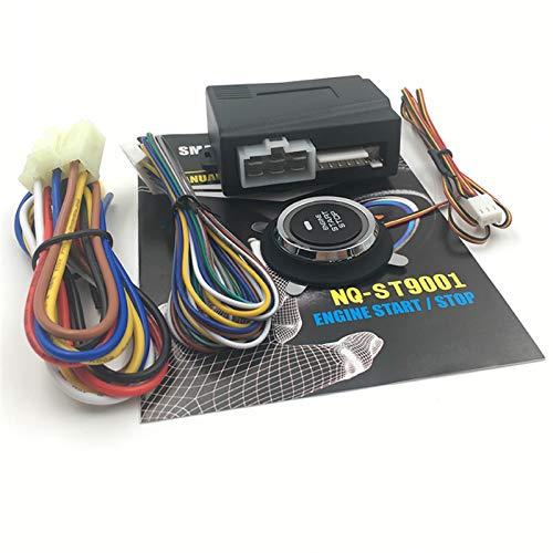 GCS Gcsheng NQ-ST9001 12V Alarma De Automóvil Motor De Automóvil Push Botón De Arranque RFID Bloqueo De Encendido Inicio Sin Llave Inicio Inicio Stop Stop Sistema ANTIBROFT (Color : Black)