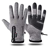 BeiLan Winter Gloves for Men Women,-15℉(-26℃) Coldproof Ski Gloves 3M Thermal Insulated Gloves Touchscreen Gloves Snowboarding Gloves for Cycling Running Climbing Hiking Outdoor Sports(XL,Grey)