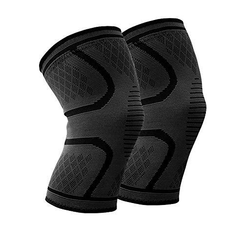 W.Z.H.H.H Rodilleras 1 par Protector de la Rodilla Deportes Running Knee Pads Riding Baloncesto for Hombres y Mujeres de la Guardia Rodilla y Transpirable (Color : Negro, Size : 3XL)