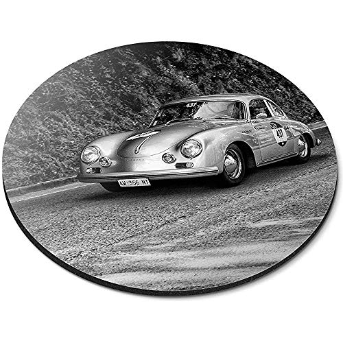Runde Mauspad - Vintage Race Car Sports Porsche Office Geschenk