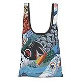 ショッピングバッグこいのぼり エコバッグ 折りたたみ 買い物袋 コンパクトバッグ 大容量 収納 おおきめ 水洗い可 繰り返し使用