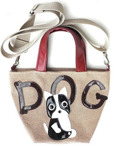 日本製 お散歩バッグ ミニショルダーバッグ 犬柄 斜めがけ おしゃれ フレンチブルドッグ 雑貨 グッズ