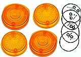 4 STÜCK Blinkerkappe rund für SIMSON S50 S51 SR50 orange mit E-Prüfzeichen