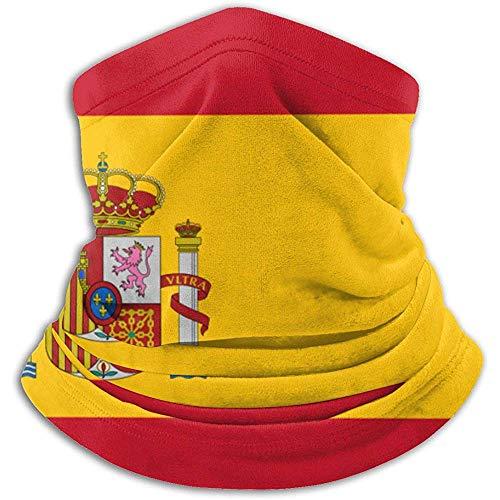 Gwrix Spaans vlag, nekwarmer, bivakmuts, skimasker, koud weer, gezichtsmasker, winter hoed, hoofddeksel, voor mannen en vrouwen, zwart