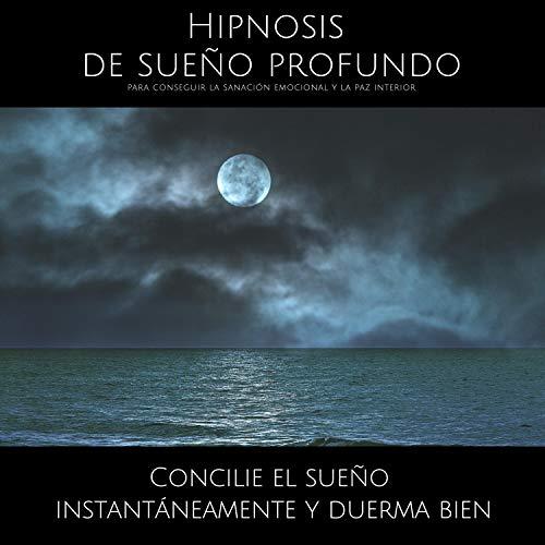 Diseño de la portada del título Hipnosis de sueño profundo para conseguir la sanación emocional y la paz interior