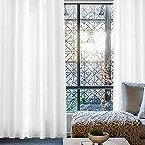 MIULEE 2er Set Voile Vorhang Sheer Weinachten Leinenvorhang mit Ösen Transparente Leinen Optik Gardine Ösenschal Wohnzimmer Fensterschal Lichtdurchlässig Dekoschal Schlafzimmer 145 x 245cm (H x B) - 5