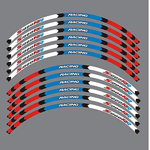 Etiquetas engomadas decorativas de la motocicleta Para B-M-W S1000RR S1000 Rr Pegatinas De Borde Exterior De Motocicleta Ruedas Película Borde Calcomanías Reflectantes Pegatina De Decoración De Neumát