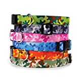 Camouflage Dog Collar - with Tag-A-Long ID Tag System - Camo - Large 18 to 28 inch Length x 1 inch Wide
