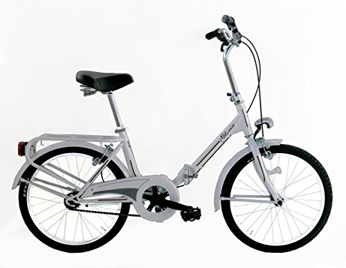 FREJUS Microbike Graziella da 20'–Bicicletta Pieghevole Unisex, 1velocità, Acciaio, Bianco