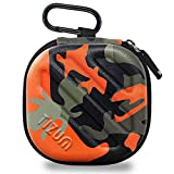 TIZUM Earphone Carrying Case - Multi Purpose Pocket Storage Travel Organizer for Earphone, Pen Drives, Memory Card, Cable (Camouflage Orange) bluetooth earpiece for iphones May, 2021