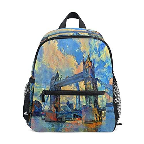 London Tower Bridge Kleinkind-Rucksack für Kinder, UK Themse, Fluss, Vorschule, Studenten, Büchertasche, für Kindergarten, Jungen, Mädchen, Kinderrucksack, Reisen, Wandern, Tagesrucksack