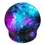Mouse Pad with Wrist Rest Support, ToLuLu Gel Cute Mouse Pads Non Slip Rubber Base Mousepad, Ergonomic Mouse Wrist Rest Pad for Laptop Computer Home Office Working Gaming Pain Relief, Nebula Galaxy