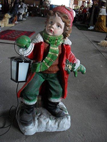 Ragazza con lanterna–Statuette di Natale–bambini–Giardino e pubblicità Statuette–wn307