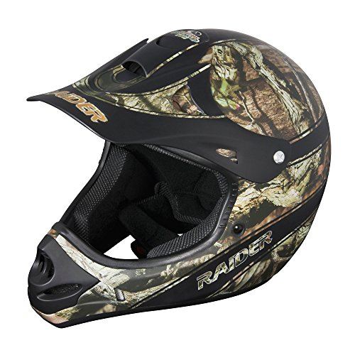 Raider 24-630-MOY-13 Youth Kids Boys Girls Ambush MX Off-Road Helmet (Mossy Oak Break Up Infinity, Small)