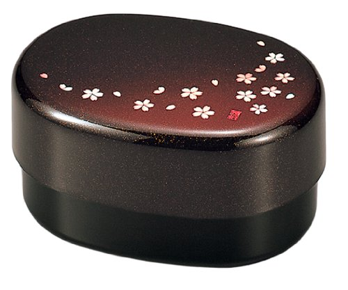 Bento Box Laque Oval Decoration Sakura Rose