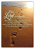 Footprints In The Sand 金属板ブリキ看板警告サイン注意サイン表示パネル情報サイン金属安全サイン