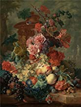 Oil Painting 'Fruit Piece, 1722 By Jan Van Huysum', 18 x 24 inch / 46 x 60 cm , on High Definition HD canvas prints is for Gifts And Bed Room, Gym And Laundry Room Decoration, prices