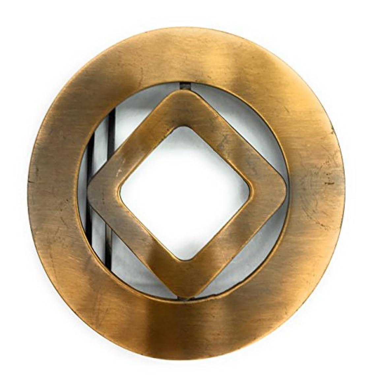 Designer Belt Buckle for Women Plated 14 kt. Gold Bronze 2' Inch Round