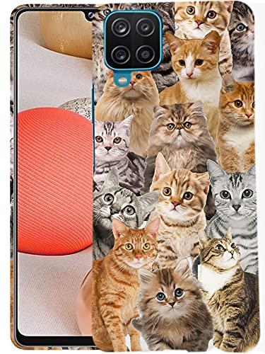 Glisten Samsung Galaxy A42 5G Case - Cat Collage Design Printed Slim Profile Cute Plastic Hard Snap on Protective Designer Back Galaxy A42 5G Case (2021)