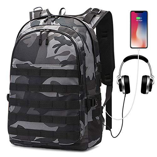 UBaymax Taktischer Rucksack Militär 35 L, Wasserdichter Anti-Diebstahl 15,6 Zoll Laptop Rucksack mit USB Ladeanschluss, PUBG Ebene 3 Rucksack Trekkingrucksack für Laptop, Wandern, Trekking, Survival