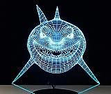 3D Bluetooth Lautsprecher Nachtlicht Marine Tier Hai Multicoloured Touch Led Gradient Visuelle Schreibtischlampe Bluetooth Musik Nachtlicht Party Usb Black Base Geschenk Licht