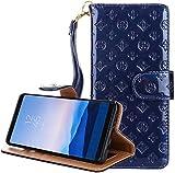 【LWGON】Samsung Galaxy S9 対応 花柄 ケース 純色 手帳型 横開き レザー 革 カバー マグネッ……