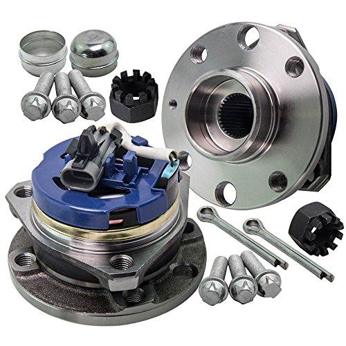 maXpeedingrods 4 Studs Front Wheel Bearing Hub + Abs Sensor pour Astra G Mk4 98-06 Vkba3511 9117620