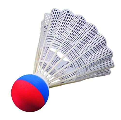 FLIXI Riesen Federball – wetterfester Badminton Ball für Outdoor Ball Spiele - Schaumstoffball - in Rot und Blau