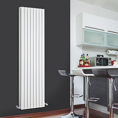 Hudson Reed Sloane Radiador de Diseño Vertical Doble - Blanco - 1780mm x 472mm x 72mm - 1930 Vatios