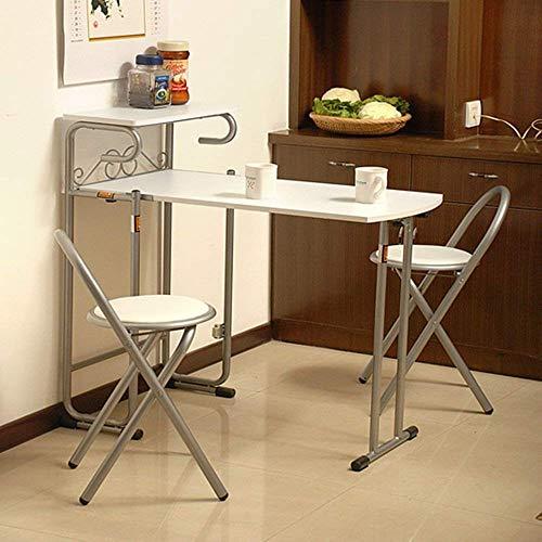 DGHJK Mesas y sillas Plegables Plegable 1 Mesa 2 Sillas Mesa de Comedor y Mesa de Bar 2 Colores Mesa Opcional, A