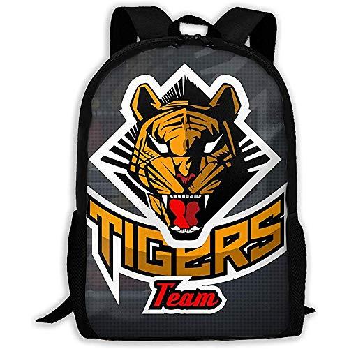 Wobuzhidaoshamingzi schoolrugzak Tiger Face Bookbag Casual reistas voor volwassenen