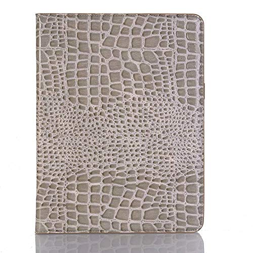 Funda de piel de cocodrilo con función atril para iPad Pro de 11 pulgadas (2018). Color gris