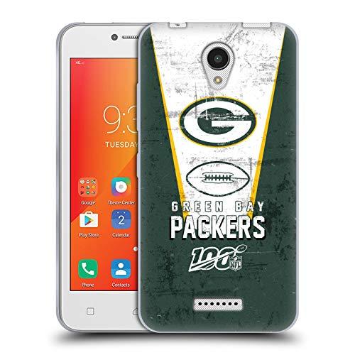Head Case Designs Oficial NFL Banner 100 2019/20 Envasadores Green Bay Carcasa de Gel de Silicona Compatible con Lenovo A Plus