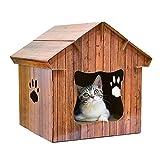 WJQ 5 Katzentoilette für den Innenbereich, gewellt, Schleifpapier für Katze, Schaber, einzigartige Form, atmungsaktiv, feuchtigkeitsisolierend, leicht zu reinigen, Winddicht